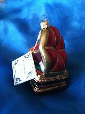 Polonaise Gramophone morning glory horn Christmas Ornament htf