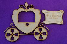 Fairytale Princess Carriage B 10cm/100mm - Craft Embellishment MDF Laser cut