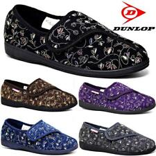 LADIES DIABETIC ORTHOPAEDIC EASY CLOSE WIDE FIT MACHINE WASHABLE SLIPPERS SHOES