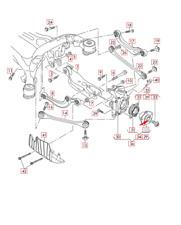 Audi Q7 4M Wheel Hub Spindle 8W0407613 NEW GENUINE 2016