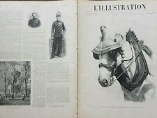 L'ILLUSTRATION 1899 N 2949 LA MODE EN PROVINCE : COIFFURE POUR UN CHEVAL !