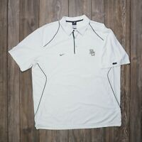 Nike Team Baylor University Bears Dri-Fit Short Sleeve Polo White Men's Sz 2XL