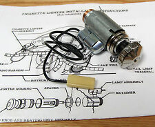 1956 CHEVY CIGARETTE LIGHTER ASSEMBLY WITH LIGHT OPTION and CORRECT WIRING