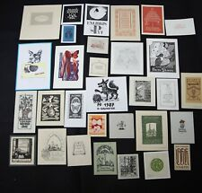 38)Nr.168- EXLIBRIS- Europäische Künstler,  Konvolut 30 Blätter