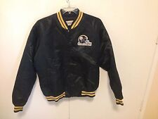 Vtg 80s 90s Chalk Line Pittsburgh Steelers SNAP Button Up Satin Jacket szXL SEWN