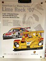 PORSCHE RS SPYDER Poster AMERICAN LE MANS SERIES ALMS LIME ROCK RACECAR 2007
