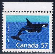 Canada #1173(3) 1988 57 cent Wild Animals - KILLER WHALE MNH