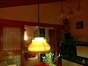 Vintage 1970s Rise and Fall Ceiling Light Fitting