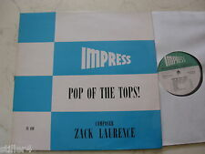 LIBRARY IMPRESS POP OF THE TOPS! ZACK LAURENCE 1976 VINYL LP