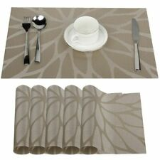 Dining Table Coasters Pads Set Non-slip Kitchen Cloth Placemats Heat Insulation