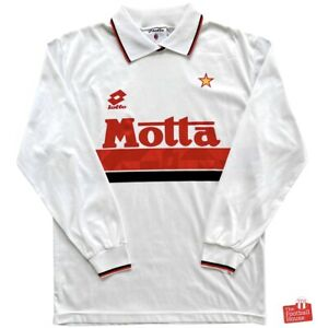 Authentic Vintage Lotto AC Milan 1993/94 L/S Away Jersey. Size M, Exc Cond.