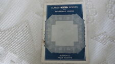 1922 Craft Book, CLARK'S O.N.T. DESIGNS HOUSEHOLD LINENS #11, Patterns