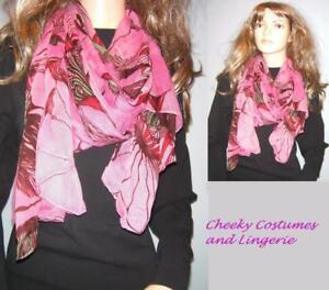 Scarf Shawl Pink Multi Colour Soft Feel Gift