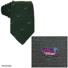 Duck Tie Wool Silk Blend Necktie Green