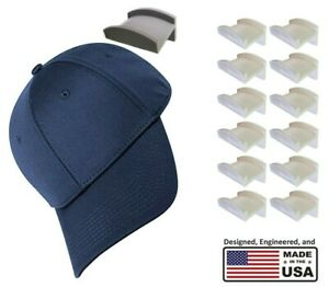 Hat Hangers | 12 pack any color | Rack to organize baseball caps, fedoras, etc