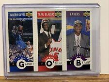 1996-97 Upper Deck Jermaine O'Neal Kobe Bryant Kevin Garnett Royal Crown