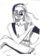 original drawing A3 50BJ art by samovar ink modern Women 2020