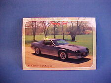 1982 Chevy CAMARO Z/28 collector card from 20 year old set--mint brand new 82