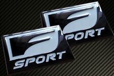 Pair of LEXUS SPORT BADGE EMBLEM CT200H IS200 IS250 IS300 IS350 RX SC430 GS350