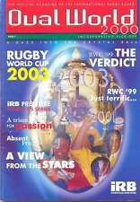OVAL WORLD No 1 2000 RUGBY MAGAZINE WORLD CUP RWC 1999 SIX NATIONS 2000