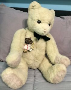 Vintage 1986 Gund Collectors Classic Limited Edition White Tinker Teddy Bear 20""