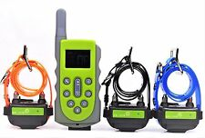 600M Remote Waterproof Rechargeable 3 Dog Training Shock Collar No Bark Trainer