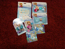 NEW Beauty Lot Disney Frozen Anna Elsa gift items bows lipbalm gloss clips nails