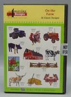 SEALED Amazing Designs Embroidery Solutions On The Farm Design CD 20 Designs