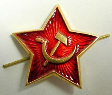 USSR Soviet Russian Army Red Star Soldier Pilotka Cap Hat Badge