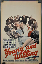 YOUNG AND WILLING 1942 ORIG 14X22 WC MOVIE POSTER WILLIAM HOLDEN EDDIE BRACKEN