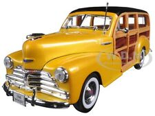 1948 CHEVROLET WOODY WAGON FLEETMASTER GOLD 1/24 DIECAST MODEL CAR WELLY 22083