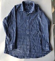 Men's Nautica Long Sleeve Button Down Plaid Shirt Pre-Owned Size L (17 32/33)