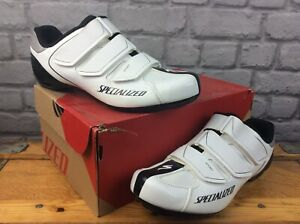 SPECIALIZED UK 8 EU 42 SPORT RD WHITE BLACK CYCLING ROAD SHOES MENS LADIES C