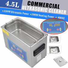Stainless Steel 45l Liter Industry Ultrasonic Cleaner Heated Heater Jx