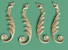 Shabby Furniture Onlay Craft Moulding Applique Large Scroll Leaf Baroque Chic