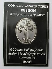 J I will give you WiSDOM knowledge request God Has Answer POCKET TOKEN COIN ganz