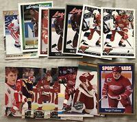 15 Sergei Fedorov cards 1991-92 OPC Super Rookie 1992-93 1993-94 Stadium Club