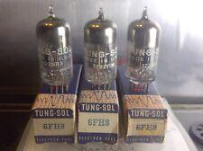 (3) 6Fh8 Tung-Sol Vacuum Tube Lot