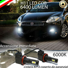 KIT FULL LED FIAT BRAVO MK2 LAMPADE H11 FENDINEBBIA CANBUS 6400 LUMEN 6000K
