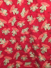 Frog Lily Pad Handmade Baby Quilt Cotton Lap Blanket Crib Nursery Red Green