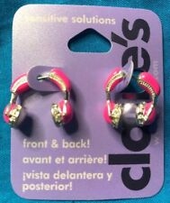 One Pair Claire's Front And Back Bright Hot Pink Headphones Earrings New!