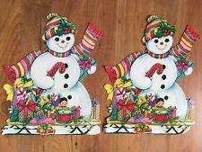 2 Snowman DIECUTS Snowwoman Gifts Toys Girl 14 5/8