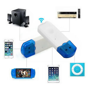 Wireless Car Bluetooth USB Dongle Stereo Audio Music Speaker Receiver Adapter