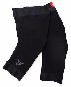 Cuore Thermal Knee Warmers Men Adult XXS XS XL Black Road Bike Mountain Gravel