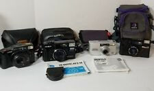 Vintage Film Photography Camera Lot Pentax Canon Nikon Minolta / Cases & Straps