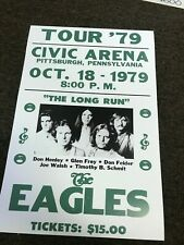 "The Eagles 1979 Pittsburgh Pennsylvania Cardstock Concert Poster 12"" x 18"""