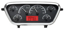 Dakota Digital 53 54 55 Ford Pickup Truck Analog Dash Gauge Black Red VHX-53F-PU