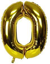 "40"" Metallic Gold Glossy Zero Birthday Party Decoration Number 0 Float Balloon"