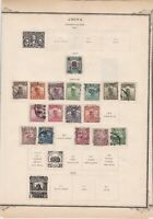china 1920s used stamps on 2 pages ref r11373