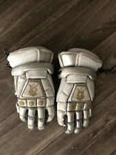 Brine King Superlight Lacrosse Lax Gloves - All White Size large. Used